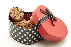 Cookies with heart Royalty Free Stock Photography