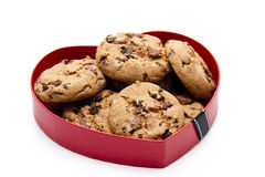 Cookies in the heart Royalty Free Stock Photo
