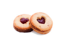 Cookies with a heart Stock Photography