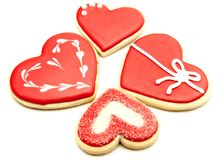 Cookies heart stock images