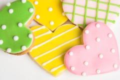 cookies heart 免版税库存照片