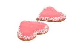 Cookies heart isolated royalty free stock photo