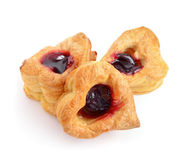 Cookies heart with jam Royalty Free Stock Photography