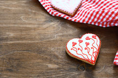 Cookies heart on a napkin Stock Images