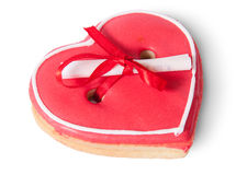 Cookies heart with note Stock Photo