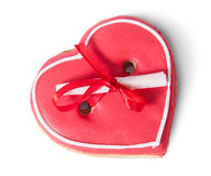 Cookies heart with note on top Stock Photography