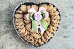 Cookies in heart packaging Stock Photography