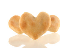 Cookies heart with reflection. Stock Image