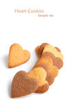Cookies in heart shape Royalty Free Stock Images