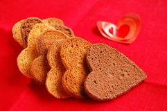 Cookies in heart shape Stock Images