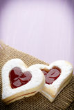 Cookies heart shape. Royalty Free Stock Photos