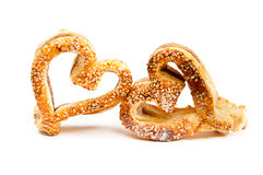 Cookies in a heart shaped Royalty Free Stock Photography