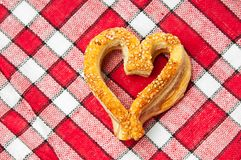 Cookies in a heart shaped Stock Photography