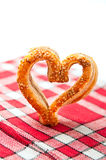 Cookies in a heart shaped Stock Image