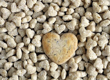 Cookies. Heart shaped cookies on wooden table Stock Photos