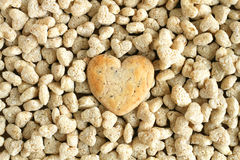 Cookies. Heart shaped cookies on wooden table background Stock Photo