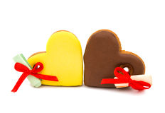 Cookies heart with surprise Stock Images