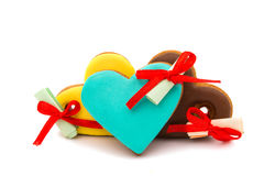 Cookies heart with surprise Stock Image