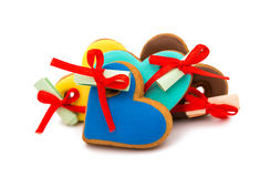 Cookies heart with surprise Royalty Free Stock Images
