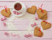 Cookies heart on wooden background Stock Image