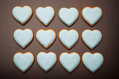 Cookies hearts Royalty Free Stock Images