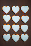 Cookies hearts Royalty Free Stock Image