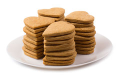 Cookies hearts in a plate Stock Image