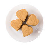 Cookies hearts in a plate Stock Photo