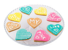 Cookies hearts in a plate Royalty Free Stock Image