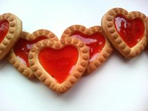 Cookies hearts Stock Photo