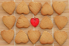 Cookies hearts for Valentine's day. Stock Images