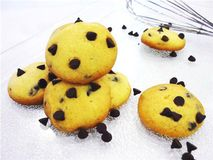 Cookies. Homemade cookies with chocolate pieces in composition Royalty Free Stock Photo