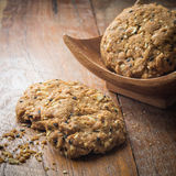 Cookies homemade on wood Royalty Free Stock Images