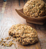 Cookies homemade on wood Royalty Free Stock Image