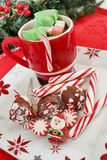 Cookies and hot chocolate Stock Photography