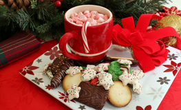 Cookies and hot chocolate Royalty Free Stock Image