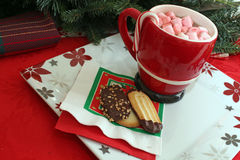 Cookies and hot chocolate Royalty Free Stock Photos