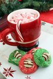Cookies and hot chocolate Royalty Free Stock Photography