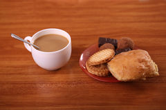 Cookies with hot drink candy Royalty Free Stock Image