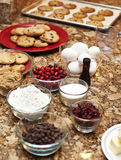 Cookies and ingredients Stock Photo