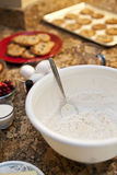Cookies and ingredients Stock Photography
