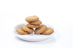 Cookies isoladas no fundo branco Imagem de Stock Royalty Free