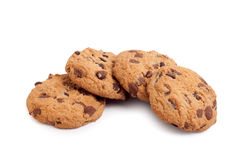 Cookies Isolated On White Royalty Free Stock Photos