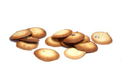 Cookies isolated on white. Sweet tasty cookies isolated on white Royalty Free Stock Photography
