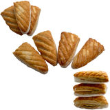 Cookies isolated on a white background. Royalty Free Stock Photography