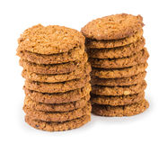 Cookies isolated on white background Stock Photography