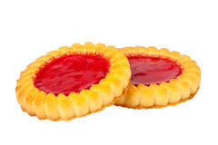 Cookies with jam Royalty Free Stock Photos