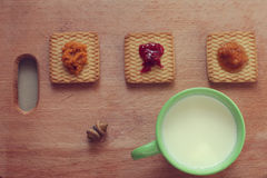 Cookies with jam Stock Photo