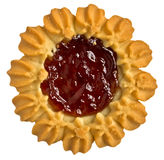 Cookies with jam in the center Stock Photos