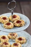 Cookies with jam on a plate Royalty Free Stock Images